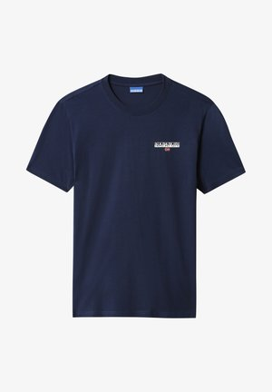 S-ICE SS - Print T-shirt - medieval blue