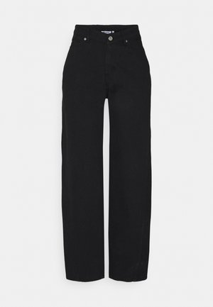 LARA WAIST TROUSERS - Relaxed fit jeans - black