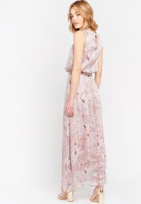 LolaLiza - WITH FLOWERS AND BELT - Maxi dress - nude - 2