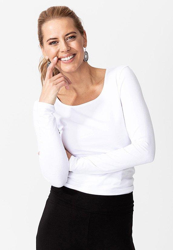 MATHILDA - Long sleeved top - white