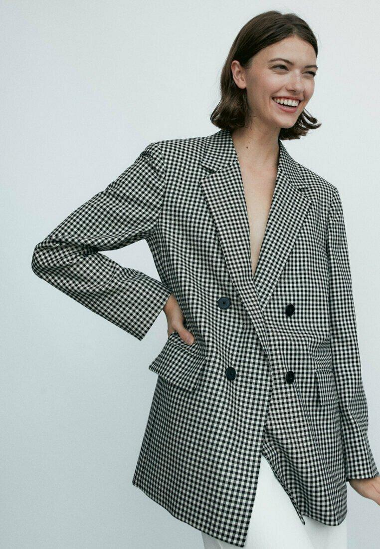 Massimo Dutti - Short coat - black
