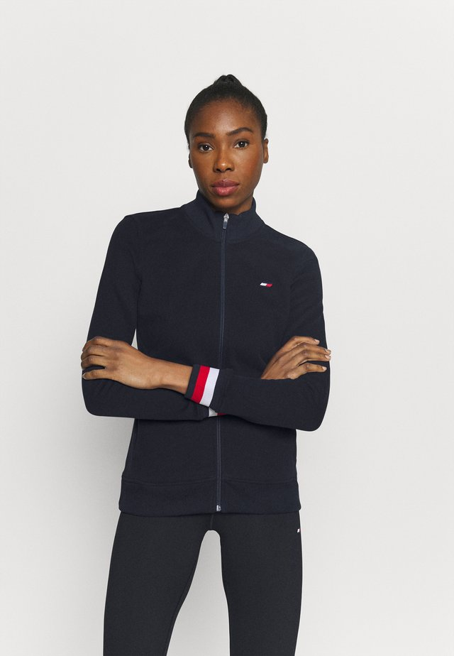 SLIM GLOBAL ZIP UP - Sportovní bunda - blue
