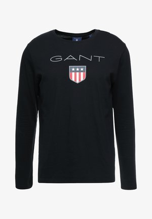 SHIELD - Langærmede T-shirts - black