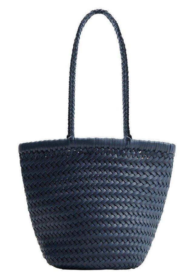 BRAIDED - Handbag - dark navy