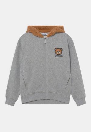 HOODED UNISEX - Zip-up sweatshirt - melange grey