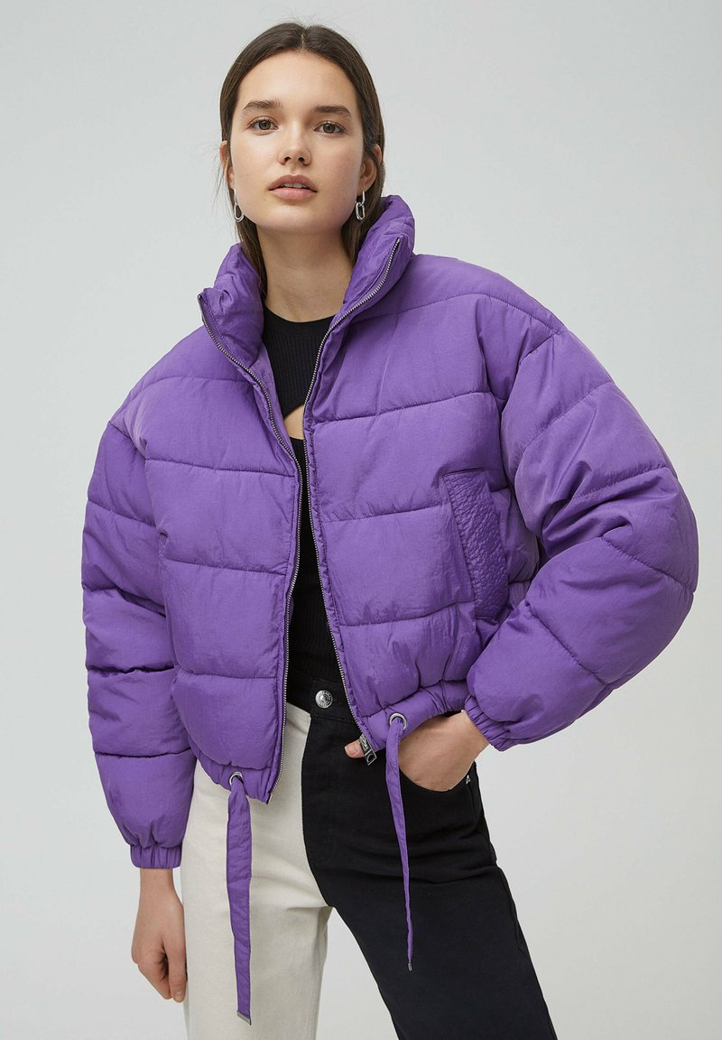 PULL&BEAR - Winter jacket - mottled purple