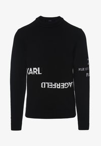 KARL LAGERFELD - LOGO CREW NECK - Jumper - black - 0
