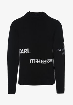LOGO CREW NECK - Sweter - black