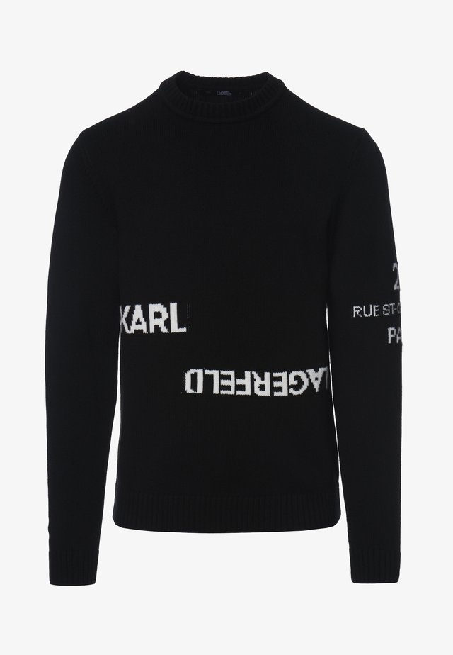 LOGO CREW NECK - Trui - black