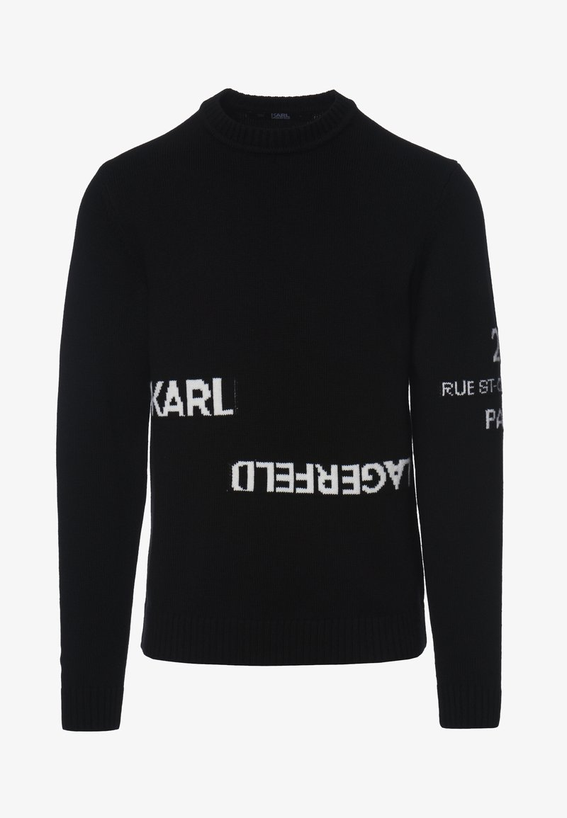 KARL LAGERFELD - LOGO CREW NECK - Jumper - black
