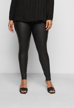 PCNEW SHINY - Leggings - Hosen - black