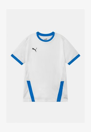 TEAMGOAL UNISEX - T-shirt med print - white/electric blue
