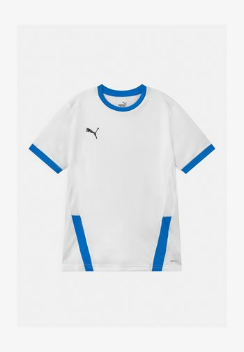 Print T-shirt - white/electric blue