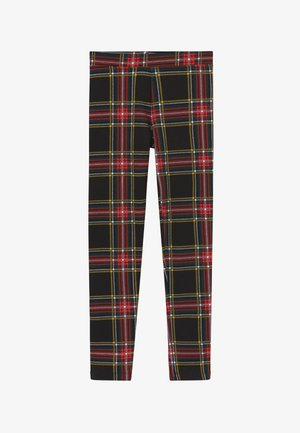 STEWART PLAID - Leggings - Trousers - black/red/green