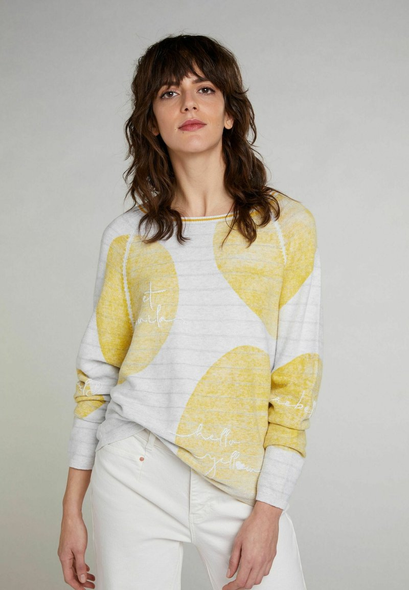 Oui - Jumper - lt grey yellow