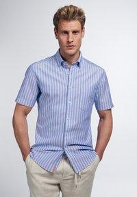 Eterna - SLIM FIT - Shirt - blau/weiß - 0