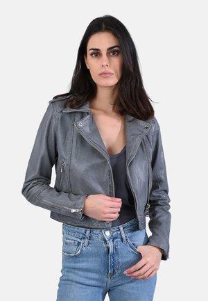 KYOTO - Leather jacket - light grey