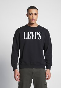 Levi's® - RELAXED GRAPHIC CREWNECK - Sweatshirt - black - 0