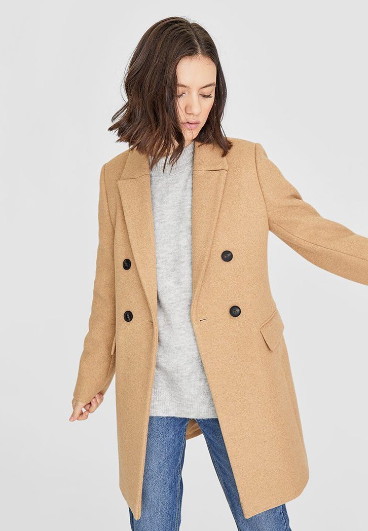 Stradivarius - Short coat - brown