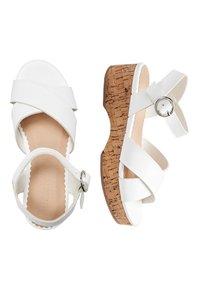 Next - WEDGE - Sandals - white - 1
