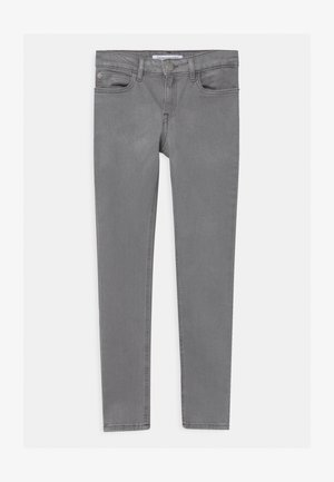 SKINNY METALLIC WASH - Vaqueros pitillo - grey