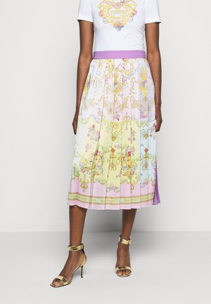 LADY SKIRT - Áčková sukně - blue/bell pink/confetti light green