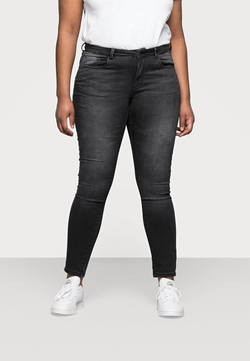 ONLY Carmakoma - CARVICKY LIFE - Jeans Skinny Fit - grey denim