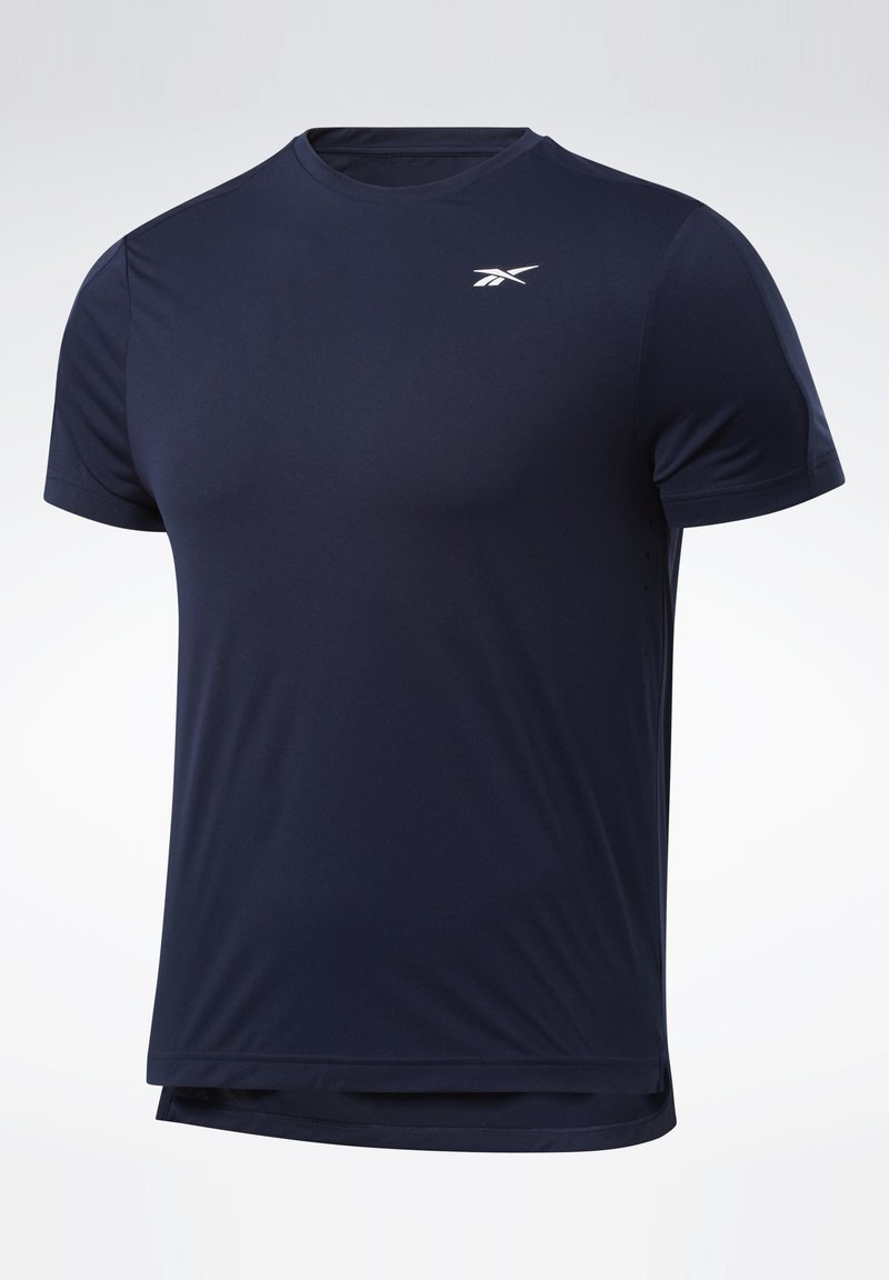 Reebok - UNITED BY FITNESS PERFORATED T-SHIRT - Camiseta estampada - blue