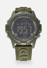 Guess - Digital watch - khaki - 0