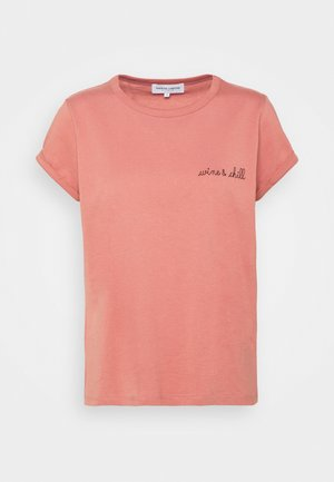 TEE POITOU WINE & CHILL - T-shirt basic - old pink