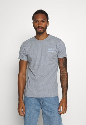 ALDER KNOWLEDE TEE - Jednoduché triko - mottled grey