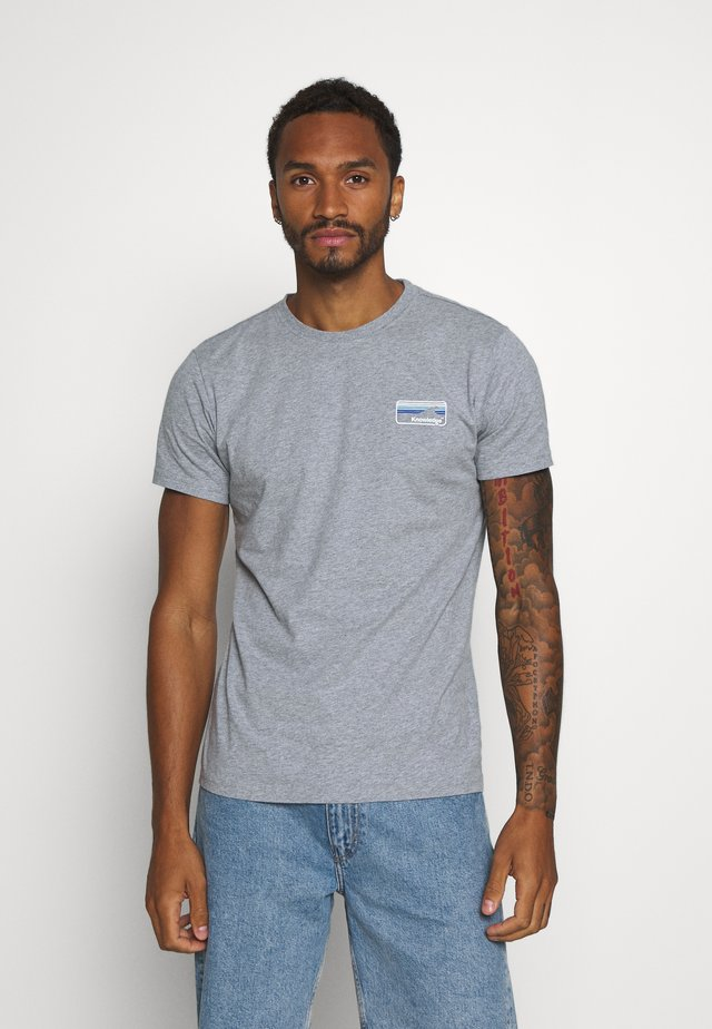 ALDER KNOWLEDE TEE - T-Shirt basic - mottled grey