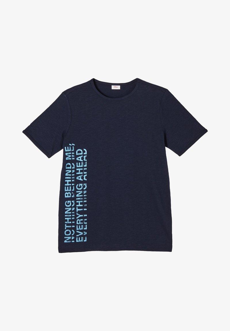 s.Oliver - Print T-shirt - blue