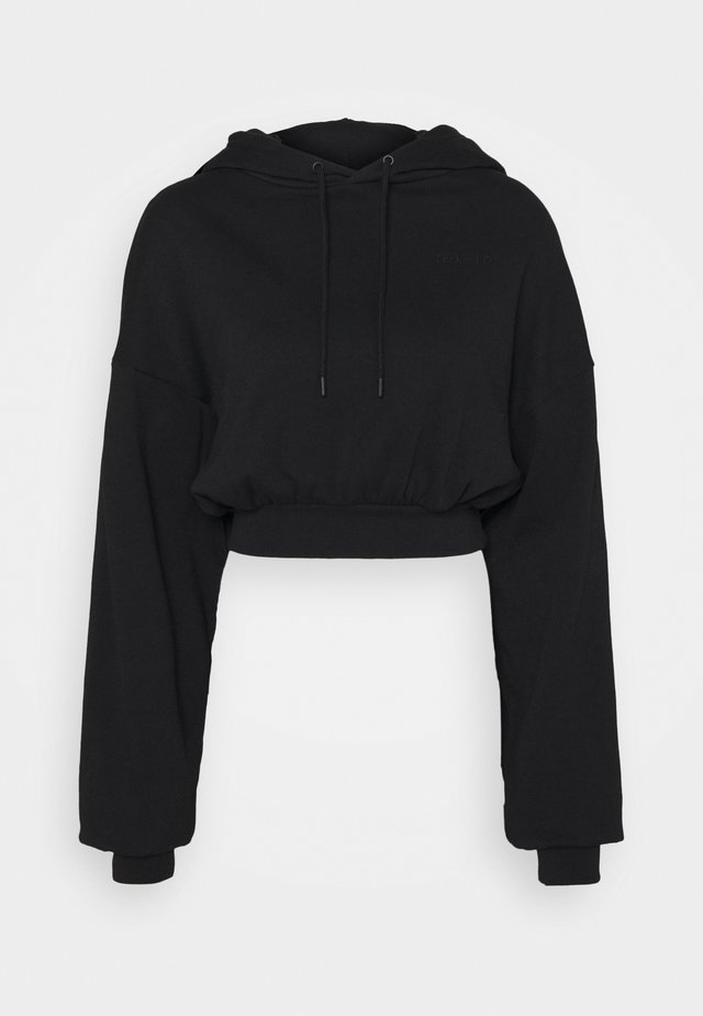 CROPPED HOODIE - Sweat à capuche - black