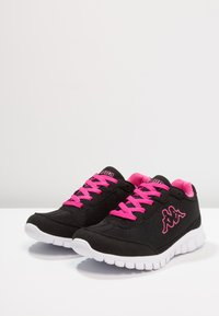 Kappa - ROCKET  - Scarpe running neutre - black/l'pink - 2