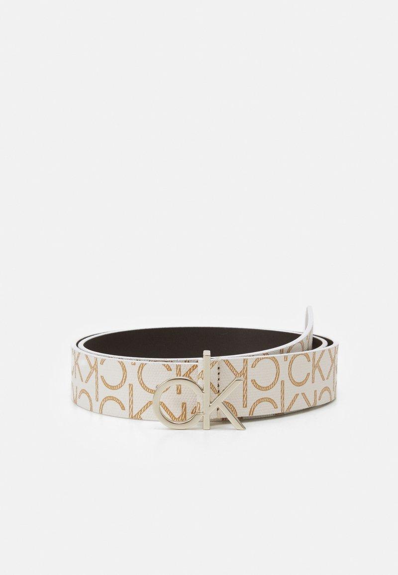 Calvin Klein - LOGO BELT MONO - Belte - white