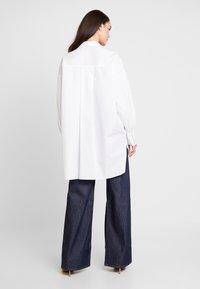 Topshop - OVERSIZED - Button-down blouse - white - 2