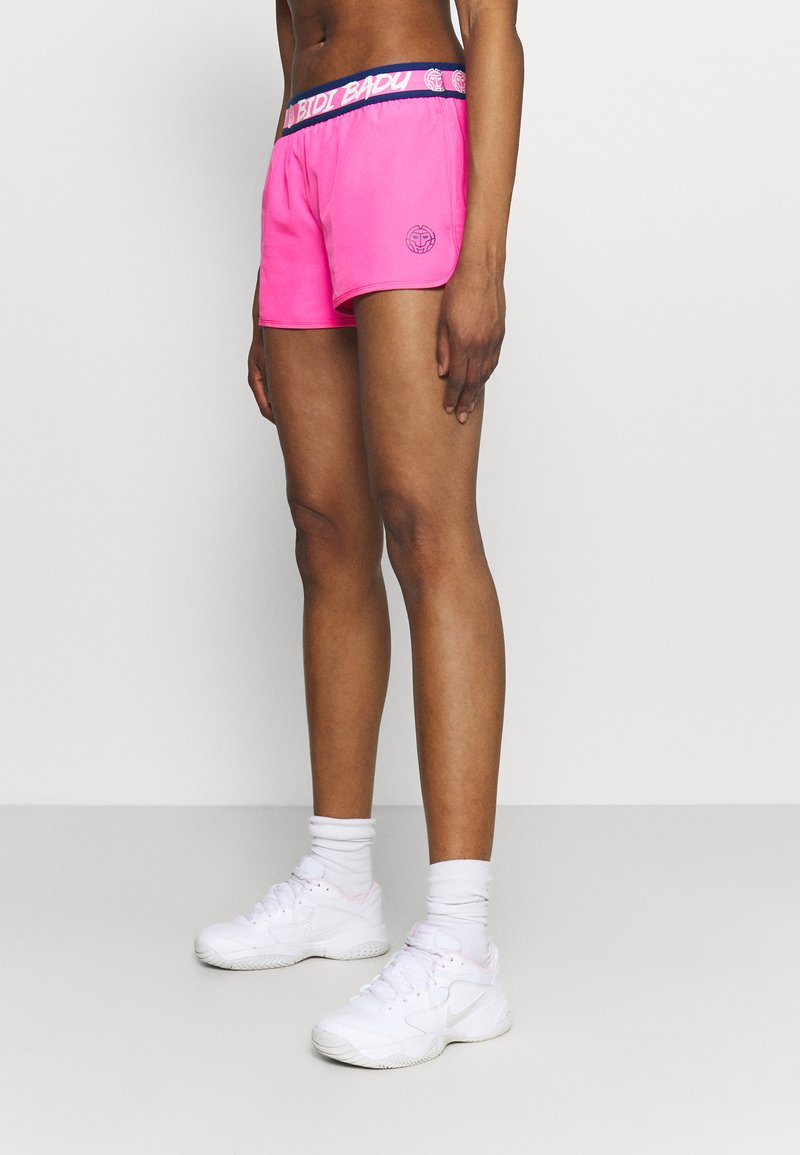 BIDI BADU - TIIDA TECH SHORTS - Sportovní kraťasy - pink/dark blue