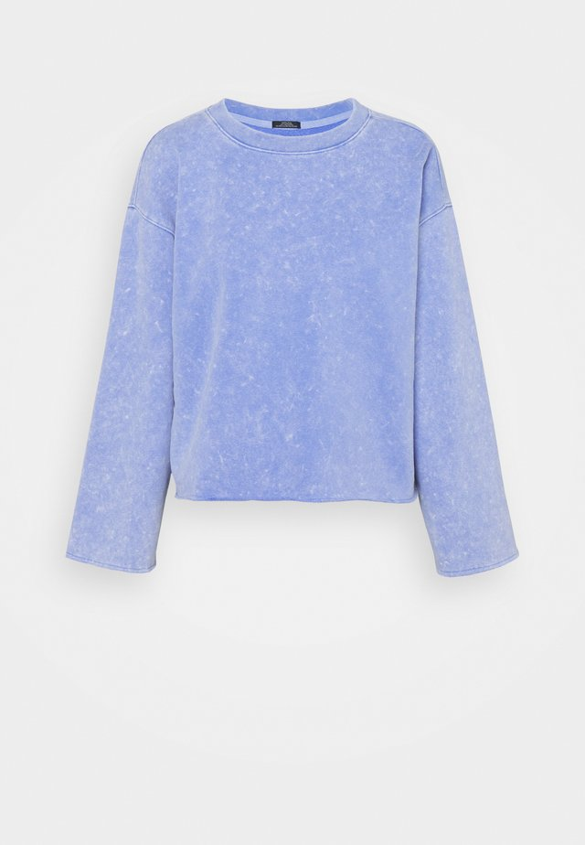 FLARE CROP - Sweater - neon medium blue