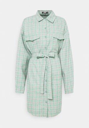 BELTED SHIRT DRESS - Shirt dress - green