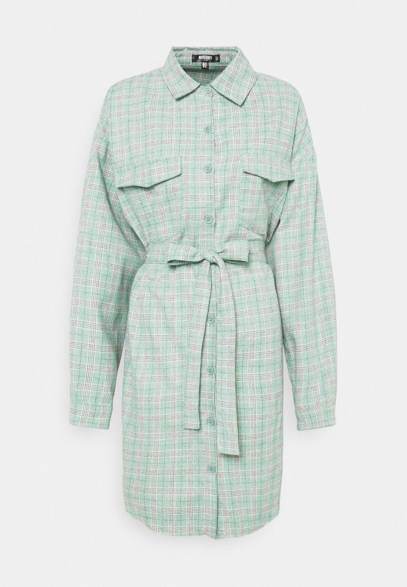 Missguided Plus - BELTED SHIRT DRESS - Shirt dress - green