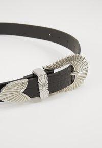 Gina Tricot - SIMONE BELT - Belte - black/silver - 3