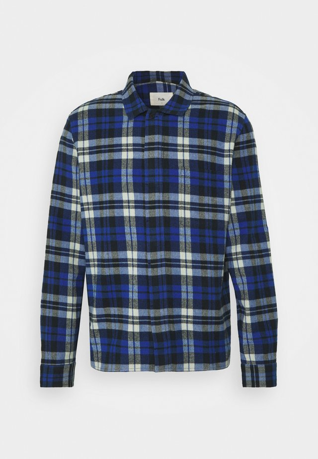 PATCH - Skjorta - blue brushed check