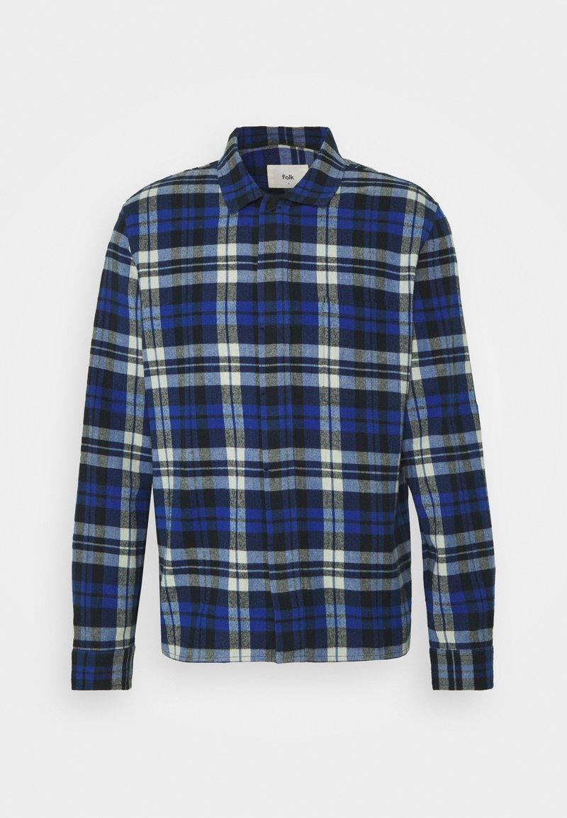 Folk - PATCH - Košile - blue brushed check
