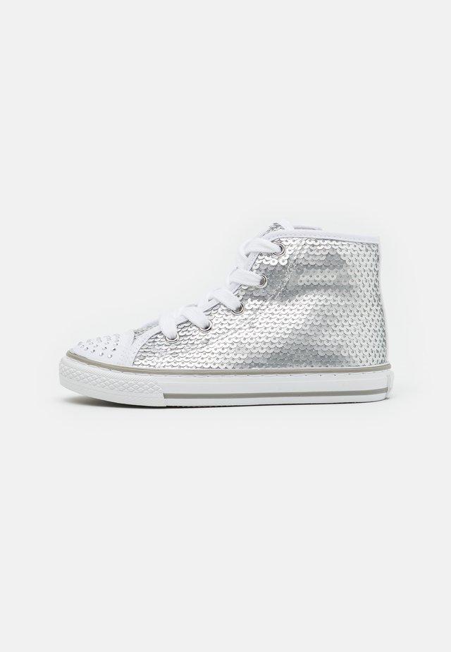 Sneakers alte - argento