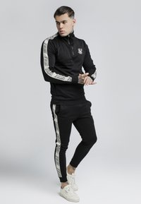 SIKSILK - QUARTER ZIP RUNNER TOP - Bluzka z długim rękawem - black - 1