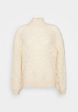 OBJCLAIRE - Pullover - sandshell melangé