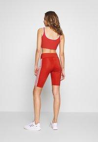 adidas Originals - ORIGINALS HIGH WAISTED TIGHTS - Shorts - lush red/white - 2