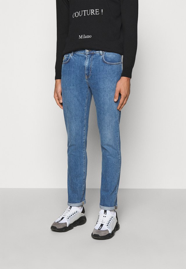 TROUSERS - Jean slim - blue