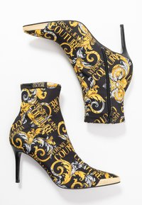 Versace Jeans Couture - High heeled ankle boots - black/yellow - 3